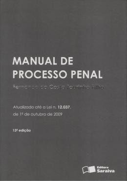 livro manual de processo penal fernando dacosta tourinho fil