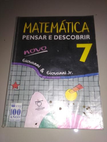 livro - matematica pensar e descobrir 5-6-7-8 giovanni