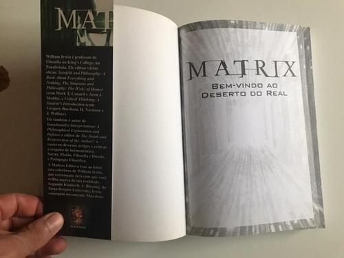 livro matrix bem-vindo ao deserto do real