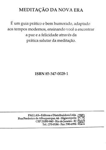 livro meditação da nova era - meditação, filosofia + brinde
