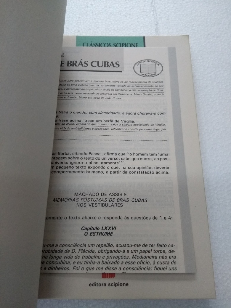 Livro Memórias Póstumas De Brás Cubas Quincas Borba R 900 Em