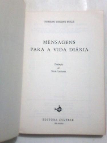 livro: mensagens para a vida diária - norman vincent peale
