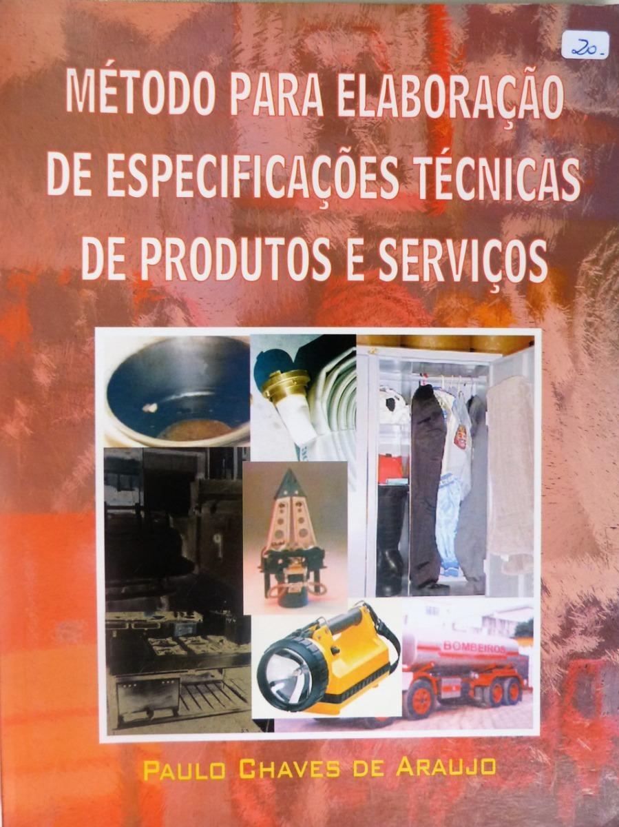 63e0fe441a9 Livro  Método Elaboração Especificações Técnicas Produtos - R  22