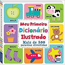 livro meu primeiro dicionario ilustrado mais de 100 palavras