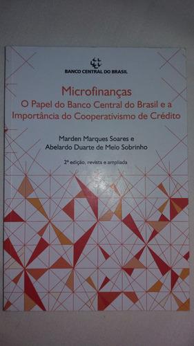 livro microfinanças - banco central do brasil - raro.