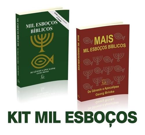 livro mil esboços biblico + livro mais mil esboços george