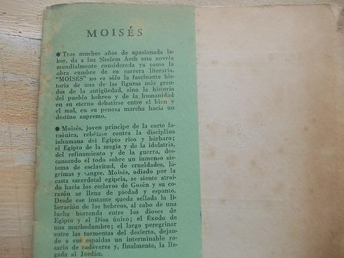 livro - moisés - sholem asch - 1953 - 4ª edição em espanhol