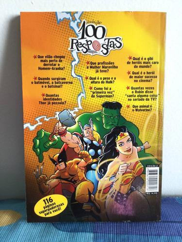 livro mundo estranho coleção 100 respostas super heróis