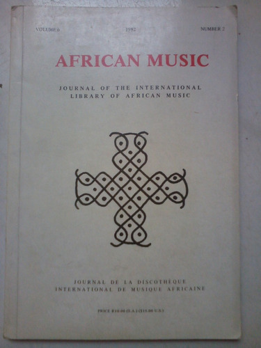 livro - música - african music: journal of int. library of a