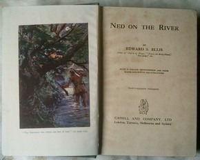livro ned on the river by edwards s. ellis - ano de 1928.