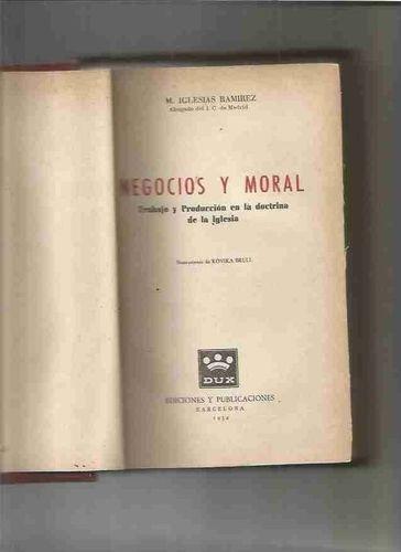 livro negocios y moral m. iglesias ramirez