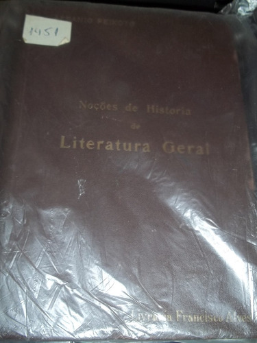 livro noções de historia de literatura geral afranio peixoto