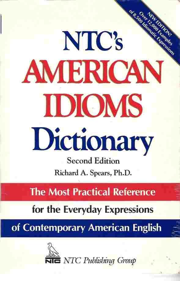 Livro Ntcs American Idioms Dictionary
