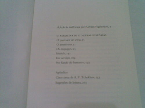 livro  ,,, o  assassino  e  outras  historias  2011