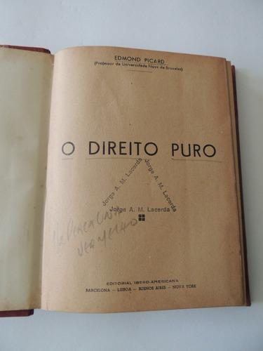 livro o direito puro edmond picard editorial ibero americana