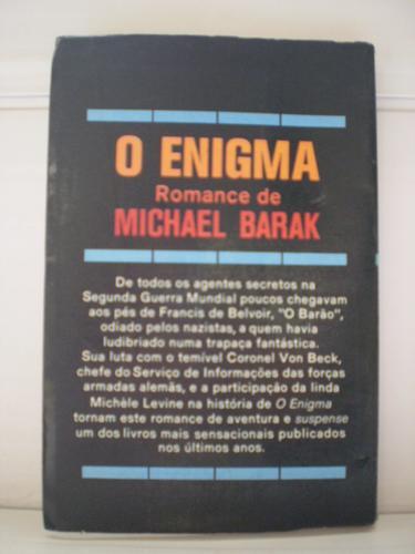 livro o enigma  michael barak