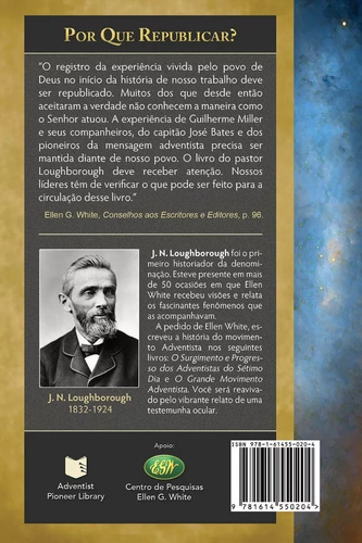 livro: o grande movimento adventista - centro white