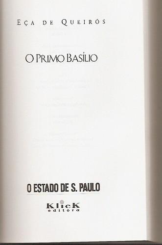 livro o primo basílio - eça de queirós - estadão / klick