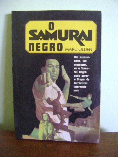 livro o samurai negro - marc olden