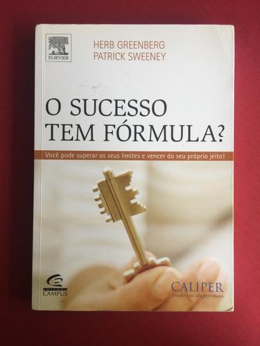 livro - o sucesso tem fórmula? - herb greenberg - ed. campus