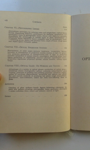livro - optics and optical instruments - bk johnson