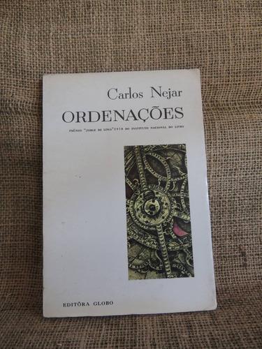 livro ordenações carlos nejar 1971 ed globo