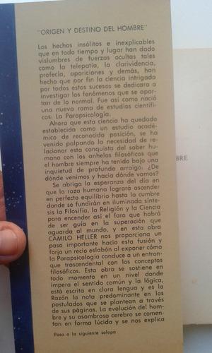 livro - origen y destino del hombre parapsicologia - emilio