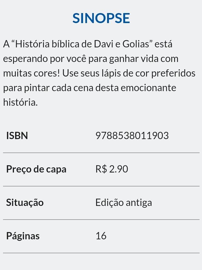 Livro Para Colorir Davi E Golias R 1 25 Em Mercado Livre