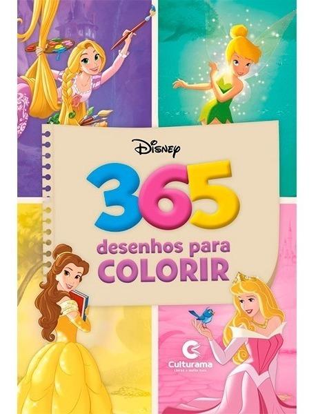 Livro Para Colorir Infantil 365 Desenho Princesas Disney Off R
