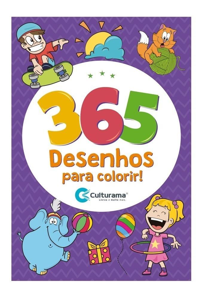 Livro Para Colorir Infantil 365 Desenhos Menino E Menina R 19