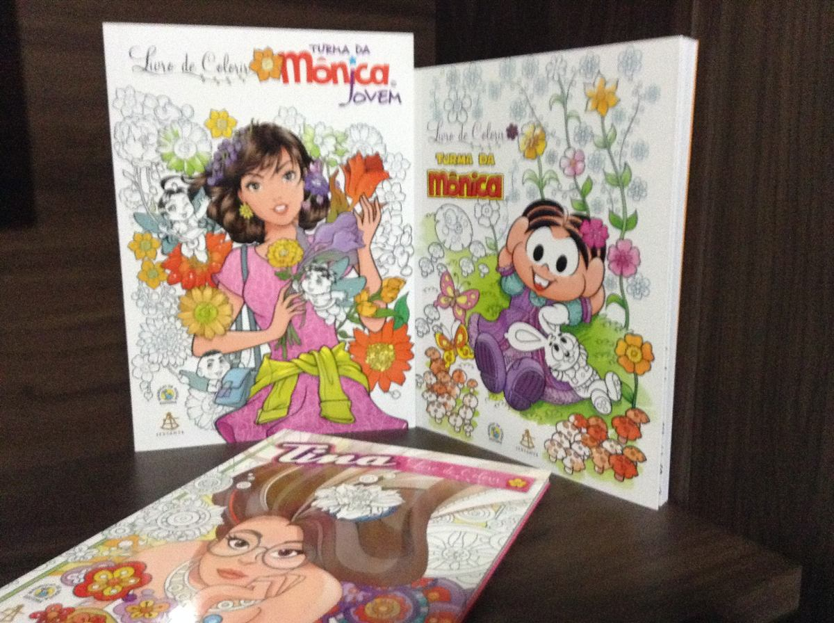 Livro Para Colorir Turma Da Mônica Mônica Jovem E Tina