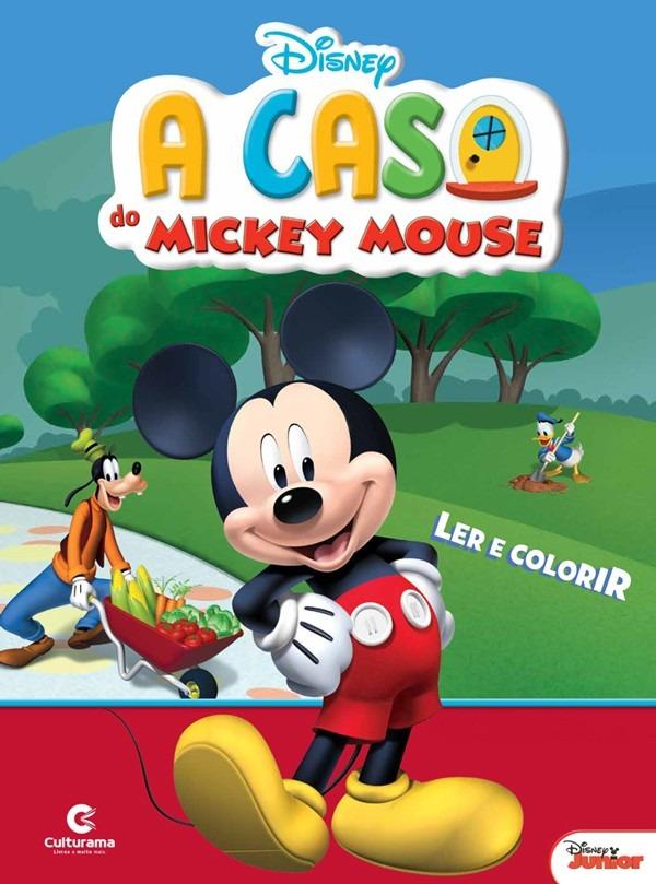 Livro Para Ler E Colorir Mickey Mouse Disney Grande R 5 90 Em