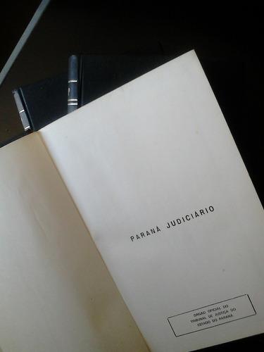 livro - paraná judiciário - vol. 1 2 e 4 - 1982 - ed. juruá