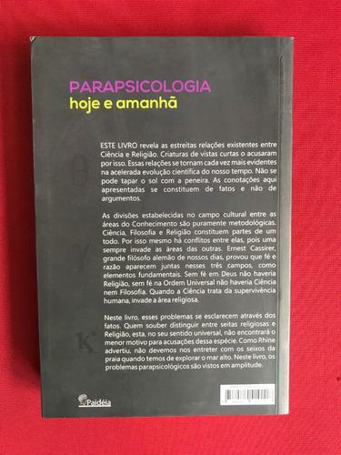 livro - parapsicologia hoje e amanhã - j. herculano - semin.
