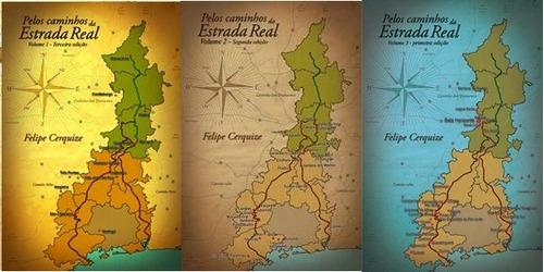 livro pelos caminhos da estrada real - volumes 1, 2 e 3