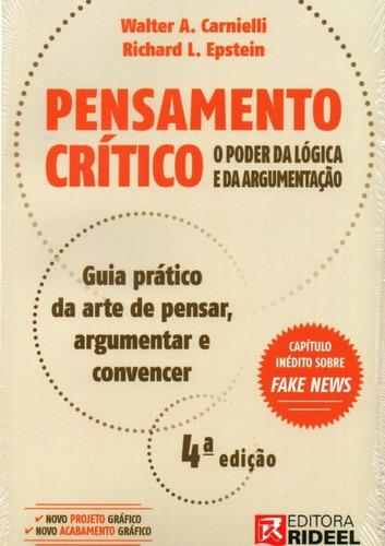 livro pensamento crítico - manual de lógica e argumentação