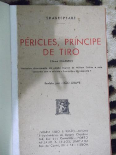livro pericles, principe de tiro - shakespeare