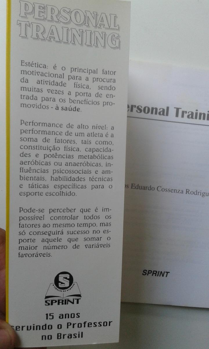 Livro Personal Training Carlos Eduardo Cossenza