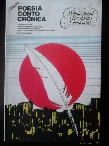 livro - poesia conto e crônica - 2ª edição de 1981