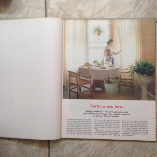 livro ponto & arte cortinas, tapetes & cia. editora globo