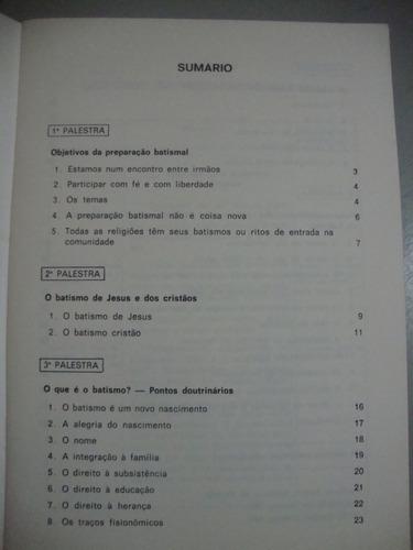 livro preparação batismal - fr. bernardo cansi