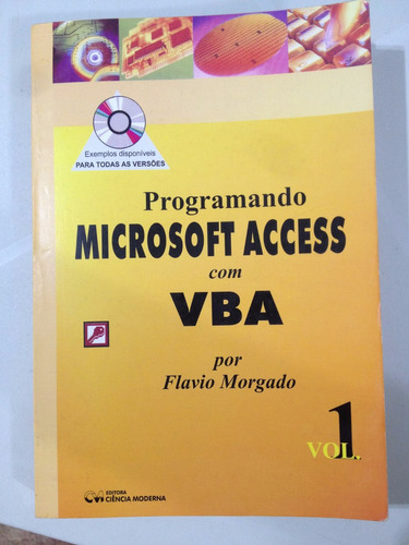 livro programando microsoft acess com vba - vol. 01