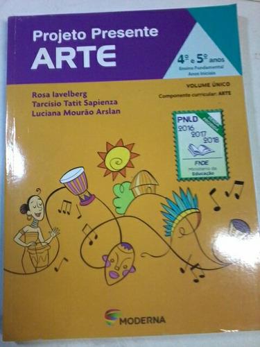 livro projeto presente arte
