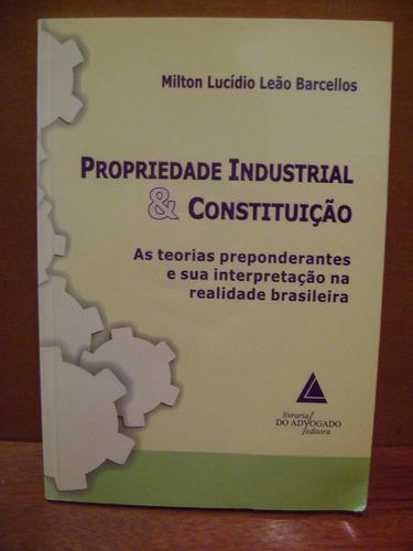 livro propriedade industrial e constituição milton barcellos