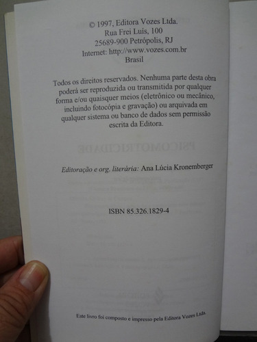 livro psicomotrocidade educacao  reeducacao gislene oliveira