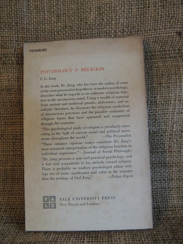 livro psychology & religion - carl gustav jung - 1968 - yale