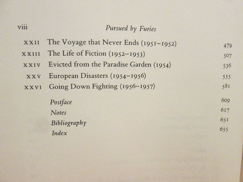 livro pursued by furies: a life of malcolm lowry - g. bowker