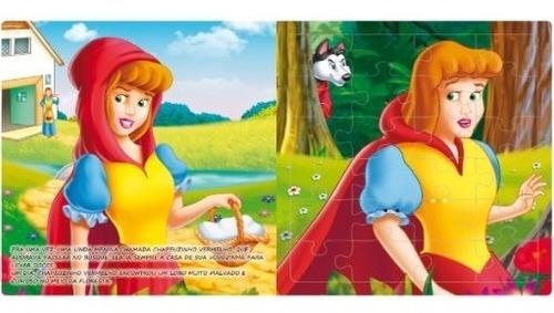 livro quebra-cabeça grande chapeuzinho vermelho