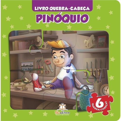 livro quebra-cabeça pequeno pinóquio clássico infantil