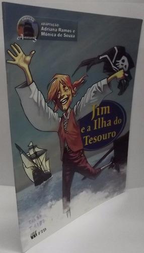 livro: ramos, adriana - jim e a ilha tesouro - frete grátis